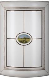 Радиусный фасад со стеклом «Алиери»